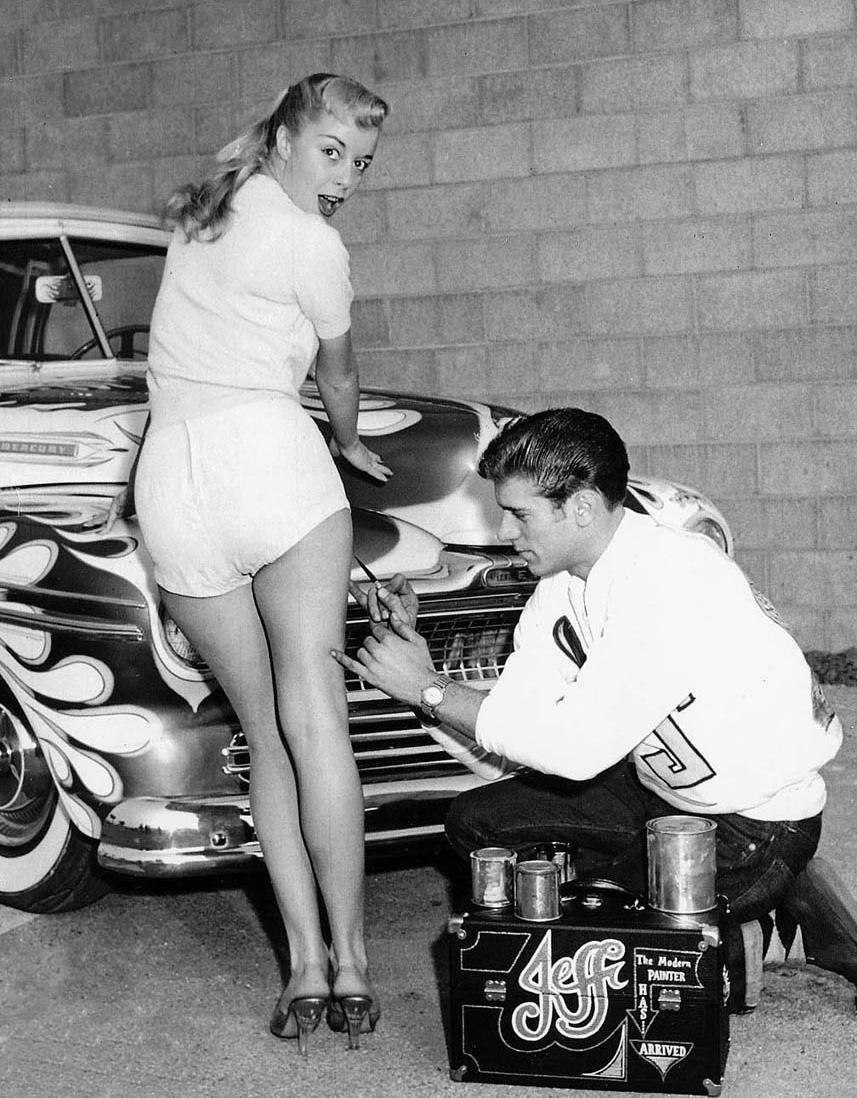 Dean Jeffries her i gang med en 1947 Mercury