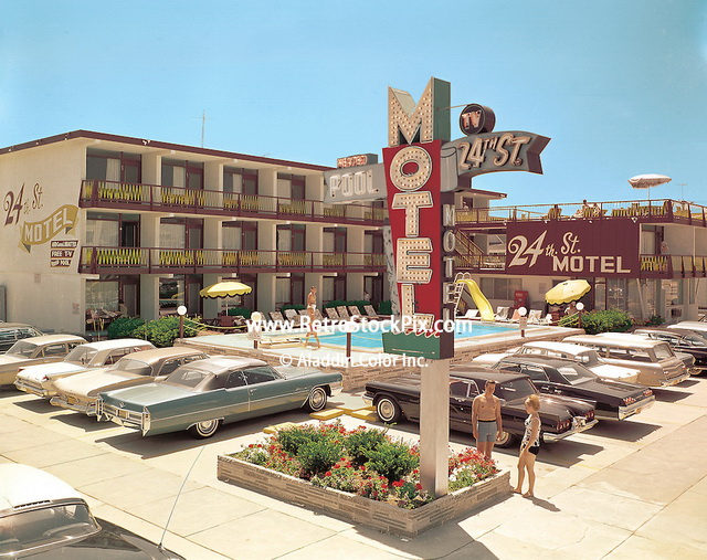 24th Street Motel, North Wildwood, NJ 1966. Retro Motel