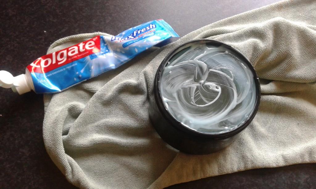 Efterpolering med tandpasta