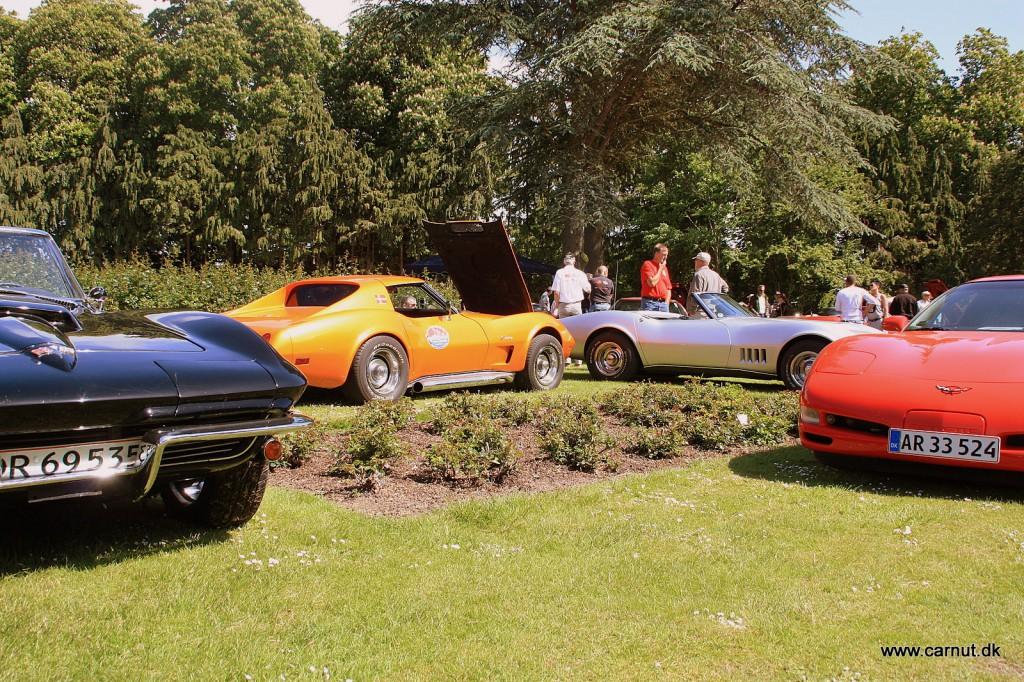 Corvette klubben var repræsenteret med omkring 15 biler