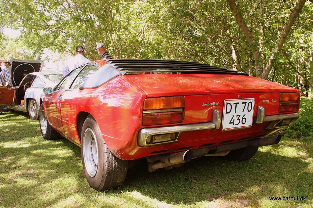 Uno's fine Lamborghini Urraco - Desværre fik den en lille lakskade på færgen